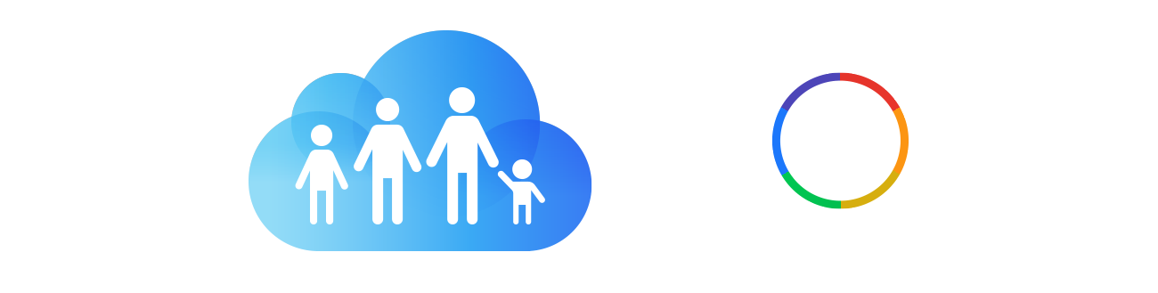 Family Sharing and Color icons